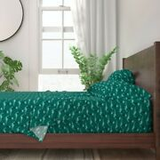 Dinosaurs Palm Trees Summer Winter 100 Cotton Sateen Sheet Set By Roostery