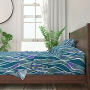 Swimming Pool Water Waves Ocean Sea 100 Cotton Sateen Sheet Set By Roostery