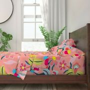Lily Bird Sing Garden Bloom Magic 100 Cotton Sateen Sheet Set By Roostery