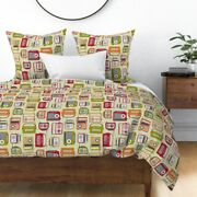 Vintage Radios Technology Tune Dial Am Fm Radio Sateen Duvet Cover By Roostery