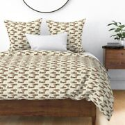Sloths Clothespins Laundry Neutral Mod Dots Sateen Duvet Cover By Roostery