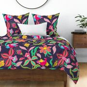 Lily Bird Sind Garden Bloom Magic Mystical Sateen Duvet Cover By Roostery