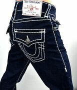 True Religion 219 Ricky Relaxed Straight Super T Jeans - Mda859n45c