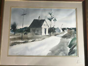Superb Edward Lynam Grant 1907 - 1998 Road To Ellsworth Watercolor Painting