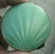 Superb Sterling Silver And Enamel Sunburst Compact H/m 1948 Turner And Simpson