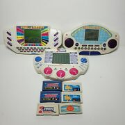 Vintage Handheld Games Tiger Wheel Of Fortune Jeopardy Family Feud Electronic