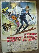 Diana Rigggeorge Lazenby On Her Majestys Secret Service Rare Poster Wow