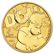 D'oh 2020 1oz .9999 Gold Homer Simpson Uncirculated In Card 2,688.00