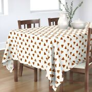 Tablecloth Watercolor Triangles Rusty Red Rusty Orange Rust Cotton Sateen