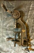 Vintage Millers Falls No 208 Bench Table Drill. Complete Working Good Cond