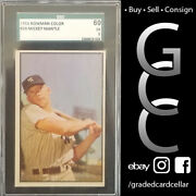 Mickey Mantle 1953 Bowman Color 59 Old Label Sgc 60 Ex 5 Comp To Psa Bgs Bvg
