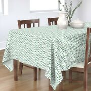 Tablecloth Watercolor Evergreens Trees Woodland Forest Christmas Cotton Sateen
