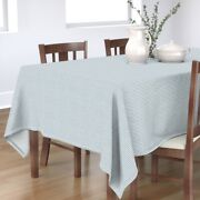 Tablecloth Ticking Pinstripe Texture Chic Vintage Provincial Blue Cotton Sateen