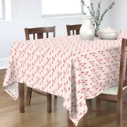 Tablecloth Holiday Christmas Trees Red And Pink Baby Girl Stripes Cotton Sateen