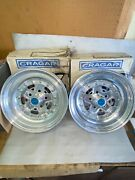 Nos New Vintage Cragar Super Star 15x3-1/2 Front Rims Wheels Gasser Ford Mopar