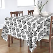 Tablecloth Typewriters Black And White Typing Books Typography Cotton Sateen