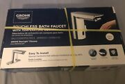 Grohe Bauandnbsptouchless Bathroom Faucet In Starlight Chrome Brand New Sealed