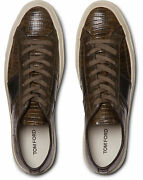 Tom Ford Cambridge Lizard Eidechse Sneakers Shoes Sneakers Trainers 44