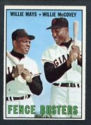 1967 Topps 423 Willie Mays Willie Mccovey Ex-mt 403209 Kycards