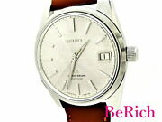 Grand Seiko 5722-9991 Menand039s Watch Antique Ss Leather Date Manual Winding Silver