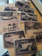 10 Old Vintage Reproduction Cars Picture Post Cards From Germany 1990