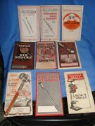9 Old Vintage Small Size Hard Ware Tools Catalogs From Usa 1930