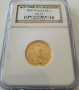 ✰2006-w West Point Mint Burnished Us 10 1/4 Oz Gold Coin Ngc Ms69 15,188 Struck