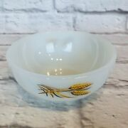 Rare Fire King Wheat Pattern Soup Cereal Milk Glass Bowl Oven Ware M5