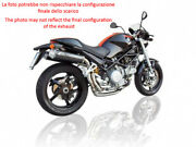 Exhaust High Zard Carbon-steel Black Approved Ducati Monster S2r 800