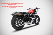 Exhaust Conical Zard Steel Polished E Black Racing Hd Sportster Iron 883
