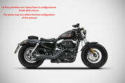 Exhaust Sport Zard Steel Polished Approved Hd Sportster Iron 883 2014-16