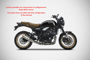 Exhaust Zard Stainless Steel A Spicchi Approved Kawasaki Z900 Rs 2018-19