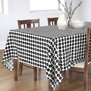Tablecloth Typewriters Vintage Keys Black And White Typing Books Cotton Sateen