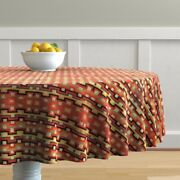 Round Tablecloth Navaho Rug Carpet Native American American Indian Cotton Sateen