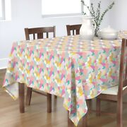 Tablecloth Mountain Woodland Hills Bright Summer Abstract Pop Cotton Sateen