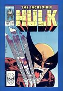 Incredible Hulk 340 High Grade Nm-mt And White Pages Wolverine Battle 02/1988