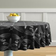 Round Tablecloth Silence Of The Lambs Death Head Moth Moth Insect Cotton Sateen
