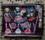 2012 Monster High Dot Dead Gorgeous 3 Doll Pack Draculara, Abbey, Ghoulia
