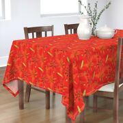 Tablecloth Day Lily Lilies Flower Floral Cotton Sateen