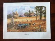 """Jack C. Deloney Quail Rise Limited Edition Print Signed Numbered 18"""" X 14"""" W/coa"""
