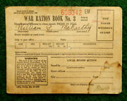 Rare 1943 World War Ii Ww2 War Ration Book No. 3 With Stamps