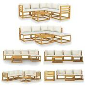 6 Piece Patio Lounge Set Wood Sectional Sofa Set Outdoor Couch Chair Furniture