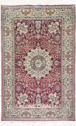 Yilong 2and039x3and039 500lines Handmade Silk Area Rug Red Medallion Tapestry Carpet 573h