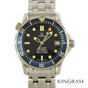 Omega Seamaster 2551.80 Used Watch Date Machine Inspection Auto Menand039s Excellent