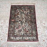 Yilong 2and039x3and039 500lines Handmade Silk Area Rug Antique Old Tapestry Carpet 578h