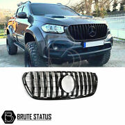 For Mercedes X-class Amg Panamerica Style Front Grille - All Black Grill - 470