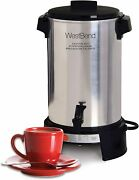 West Bend 43536 Highly Polished Aluminum Commercial Coffee Urn Features Automati