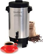 West Bend 58002 Highly Polished Aluminum Commercial Coffee Urn Features Automati