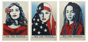 Shepard Fairey We The People Signed Set Of 3 Prints All Signed