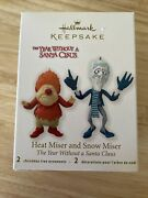 2012 Hallmark Year Without Santa Claus Heat Miser And Snow Miser Ornaments
